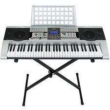 Best Choice Products 61 Key Music Electronic Keyboard Piano With X Stand LCD