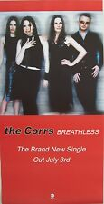 """Corrs """"Breathless - Brand New Single Out July 3Rd"""" U.K. Promo Poster-Blurry Band"""