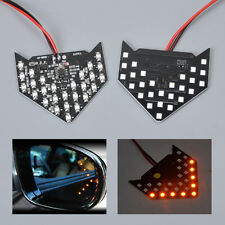 2x 27 SMD LED Arrow Panel Car Side Mirror Turn Signal Indicator Light Yellow 12V