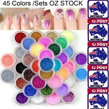 Mixed Colors Nail Art Glitter Powder Dust Acrylic UV Gel DIY Tips Decoration Set