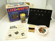 Vintage 1967 Lite Brite Game Toy With Pegs & Box