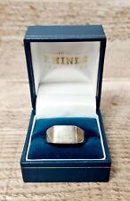 Men's 925 Silver Signet Ring Size X/Y