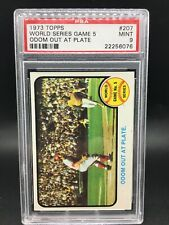 1973 topps #207 world series game 5 odom out psa 9 - pop 54, 5 higher!  tough.