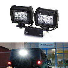 72W LED Pod Lights w/ Above 3rd Brake Bracket, Wiring For 07-17 Jeep Wrangler JK
