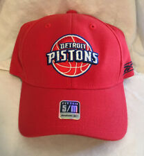 Detroit Pistons Reebok NBA Basketball Team Logo Stretch Fit Cap Hat SM/MD