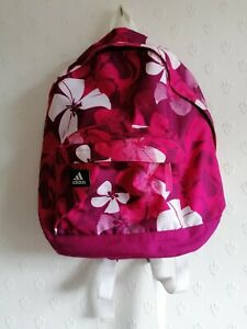 Girls Adidas Pink Florel  Backpack Rucksack New