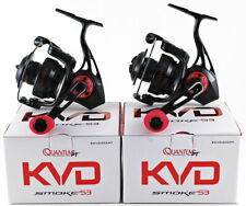 (LOT OF 2) QUANTUM PT KVD SMOKE S3 SKVD30XPT 6.0:1 GEAR RATIO SPINNING REEL