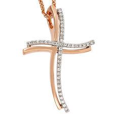 Religiöse Halsketten und Anhänger aus Rotgold mit Diamanten
