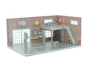 Diorama Kit Two Floor Brick Garage in Scale 1:60 / 1:64 New Car Model Display