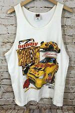 VTG 1998 kodak bob hamilton NASCAR Racing White Tank Top Shirt mens 2XL XXL D8