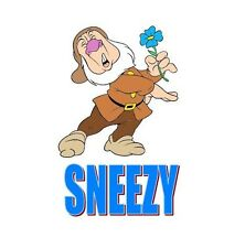Snow White Sneezy Dwarf T-shirt Iron on Transfer 5X7