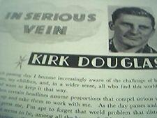 ephemera 1951 film article in serious vein kirk douglas