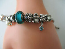 Pandora Armband Bettelarmband 925 Silber 7 charms/beads Anhänger Engel Perle