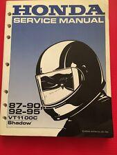 Honda 1987-90 92-95  VT1100 C Shadow Factory Service Manual Repair  OEM New