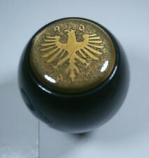 1968-1979 VW Gloss Black Shift Knob w/ Eagle Logo 12mm Thread Metal