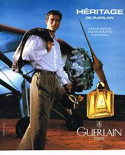 PUBLICITE ADVERTISING 064  1994  GUERLAIN   senteurs pour homme