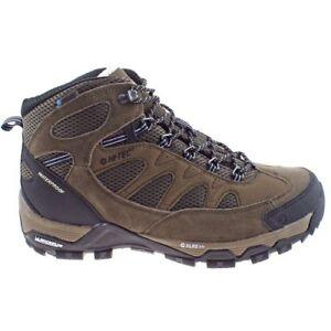 Hi-Tec Mens Riverstone Ultra WP Smokey Brown Waterproof Hiking Walking Boots