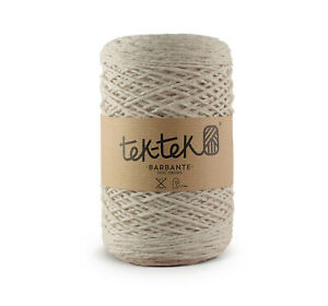 Crafting Cotton 6ply IVORY New Cotton Knit Crochet Weave 220m washable