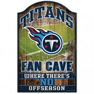 """Tennessee Titans Fan Cave Design Wood Sign - 11"""" x 17"""" [NEW] NFL Wall Man"""