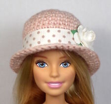 'BLUSH DOTTY' One of a kind Hat only - hand made for Barbie