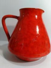 ITALIAN  CERAMIC POTTERY 60s/70s RED MOTTLED VASE JUG