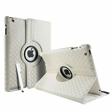 Silver Fashion Diamond Leather 360° Rotating Stand Case Cover For iPad 2/3/4