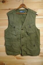Ralph Lauren Polo Green Military Vest Waistcoat Medium C-1 1967