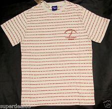 Lightning Bolt T Shirt  Pompeian Red Stripe 100% Cotton Retro Vintage Style