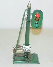 American Flyer Standard Gauge 2 Light Block Signal WORKS #2218 Green