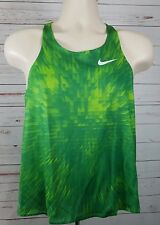 Nike Race Day Fitness Running Singlet Women's Medium Green Training Tank Top