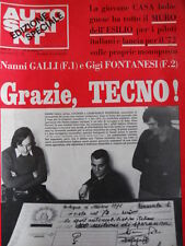 Autosprint Suppl. n°42 1971 Nanni Galli Gianfranco Pederzani Grazie TECNO  [P47]