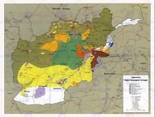 Mapa guerra Afganistán insurgencia grupos de la Unión Soviética 1985 impresión de arte poster HP1444