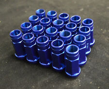 NNR Steel Extended Wheel Lug Nuts Open Ended Blue 49mm 12x1.5 20pcs