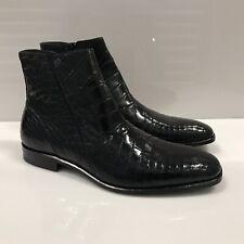 Y-1342400 New Mezlan Crocodile Alligator Skin Belucci Boots Dress Shoes Size 10