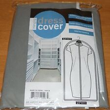 DRESS GARMENT CLOTHES STORAGE BAG DUST PROTECTOR NON-WOVEN ZIPPERED COVER