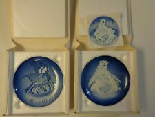 Lot of 2 Mors Dag Mother's Day collectible plates, 1970, 1974, Denmark, Blue