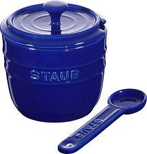Staub Céramique Sucrier rond Bleu Foncé 9cm Apte lave vaisselle