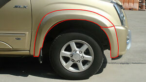 "FENDER FLARES 5"" FOR ISUZU D-MAX  2007 - 2011"