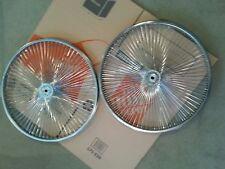 """TWO  NEW  144 SPOKE CHROME HOLLOW HUB TRICYCLE  REAR RIMS 26 """" STEEL  14g"""