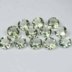 Natural Green Amethyst 5mm To 15mm Round Faceted Cut loose Gemstone BIG Mix