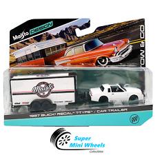Maisto 1:64 Tow & Go 1987 Buick Regal T-Type w/ Enclosed Car Trailer (White)