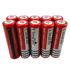 10 X 18650 3.7V Li-ion 6800mAh Rechargeable Battery for Flashlight Torch LED New