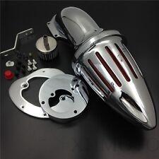 X. Bullet Air Cleaner Intake Filter Kit  Chromed For Honda Vtx1300 1986-2012