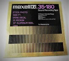 "MAXELL UD 35-180 REEL TO REEL TAPE 10"" 3600 FT Poly 35 Micron Deck Metal Reel B"