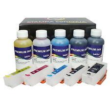 Recargables Tinta cartuchos Eps 26 / 26XL + 500ml Premium tinta