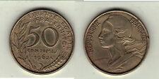 TRES RARE TTB 50 CENTIMES LAGRIFFOUL 1962 4 PLIS RARE RARE