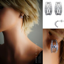 Boucles d'oreilles en Argent 925°°° et Zirconias - 1468010 - BigBang-Bijoux.com