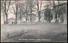 CHESTERTOWN MD Washington College Boy Dorm Dormitory Vtg B&W Postcard Old PC