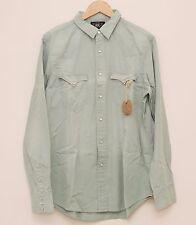 NEW Ralph Lauren RRL DOUBLE RL Men's Green Cotton Casual Western Work Shirt S