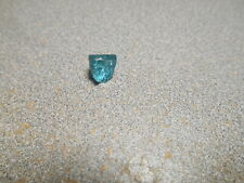 Tourmaline faceting rough. electric neon blue color. 2.5 cts. clean. Namibia.
